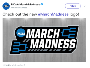 NCAA March Madness Logo Tweet