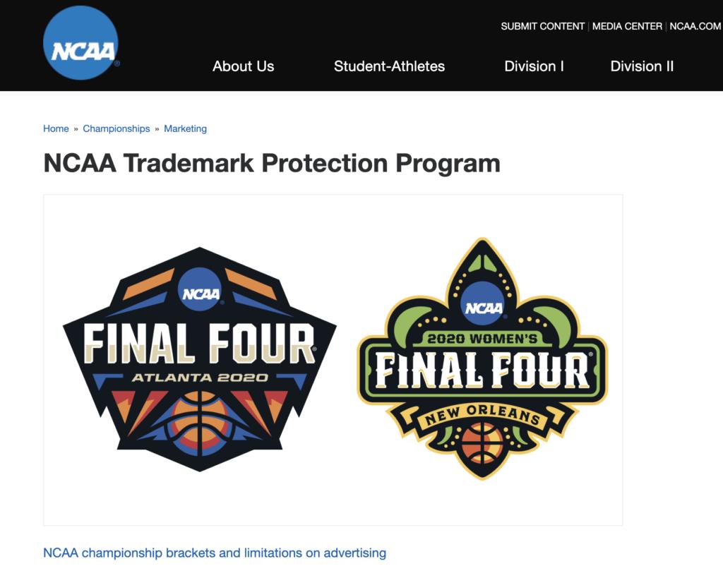 NCAA TRADEMARK REGISTRATION PORTFOLIO- LA Tech and Media Law Blog